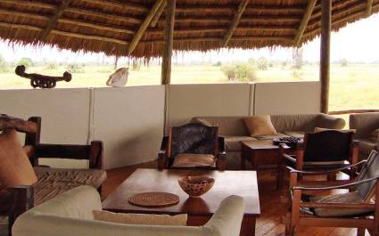 Lounge area at Maramboi Tented Camp,Tarangire
