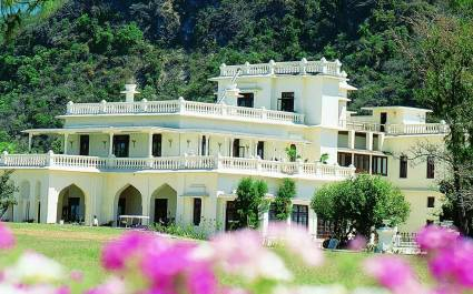 Exterior view of Ananda Spa in Rishikesh, The Himalayas