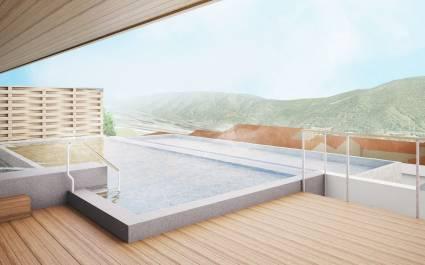 Pool im Hotel Hakone Kowakien Tenyu in Hakone, Japan