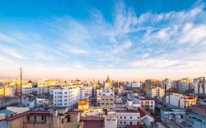 Stadtpanorama der argentinischen Hauptstadt Buenos Aires