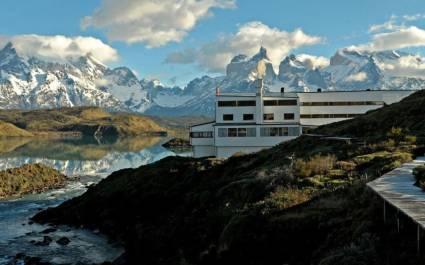 Außenansicht im Hotel Explora Patagonia, Chile