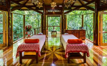 Massage room at Nayara Springs Hotel in Arenal, Costa Rica