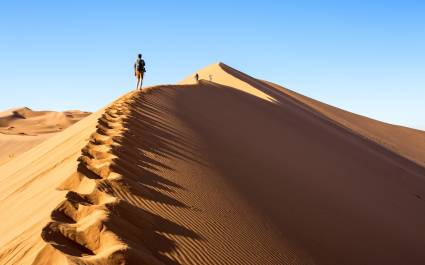 Walking on the Big Daddy dune in Sossusvlei