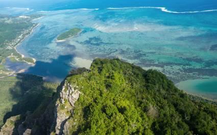 Vogesperspektive des des Berges Le Morne Brabant, Mauritius