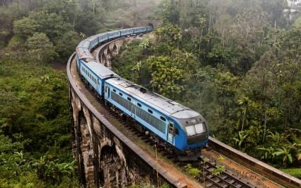 Die Nine Arches Bridge Demodara ist eine der legendären Brücken in Sri Lanka, Asien.