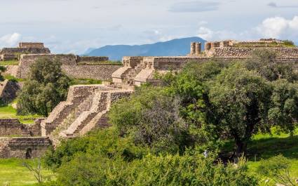 Monte Alban, just outside Oaxaca, is a pre-Columbian center of Zapotec and Mixtec culture from 8th century BCE