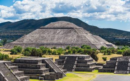 Teotihuacan, just outside Mexico City, is a famous Aztec dig