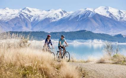 Biking trail near Mount Cook