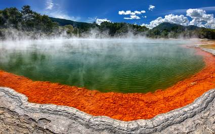Champagne Pool at Wai-O-Tapu near Rotorua, New Zealand, best road trips