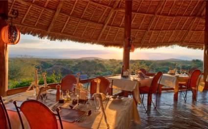 Enchanting Travels - Kenya Tours - Amboseli - Tortilis Camp - Dining area