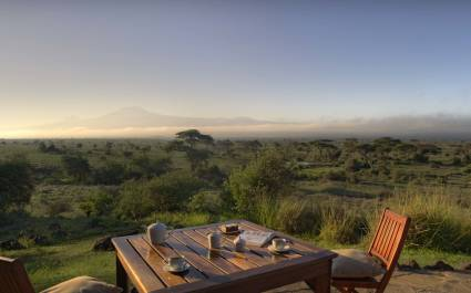 Enchanting Travels - Kenya Tours - Amboseli - Tortilis Camp - Morning Coffee