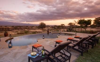 Enchanting Travels - Kenya Tours - Amboseli - Tortilis Camp - Swimming pool for the Family