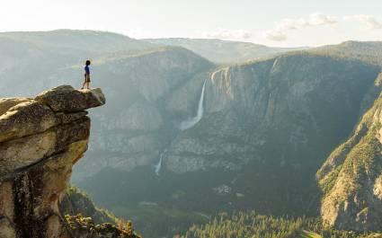 Yosemite Falls and Valley