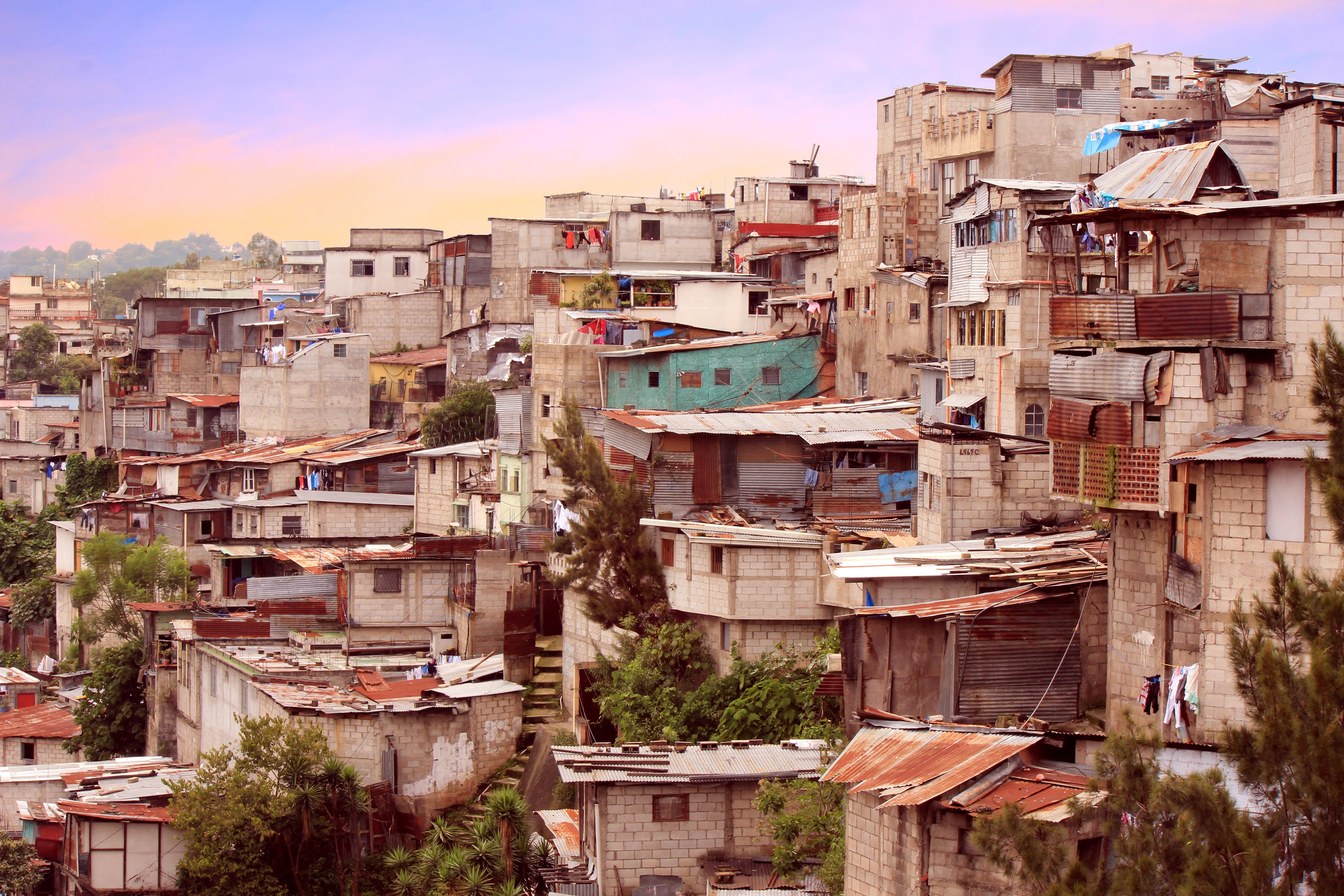 Siedlung in Guatemala Stadt