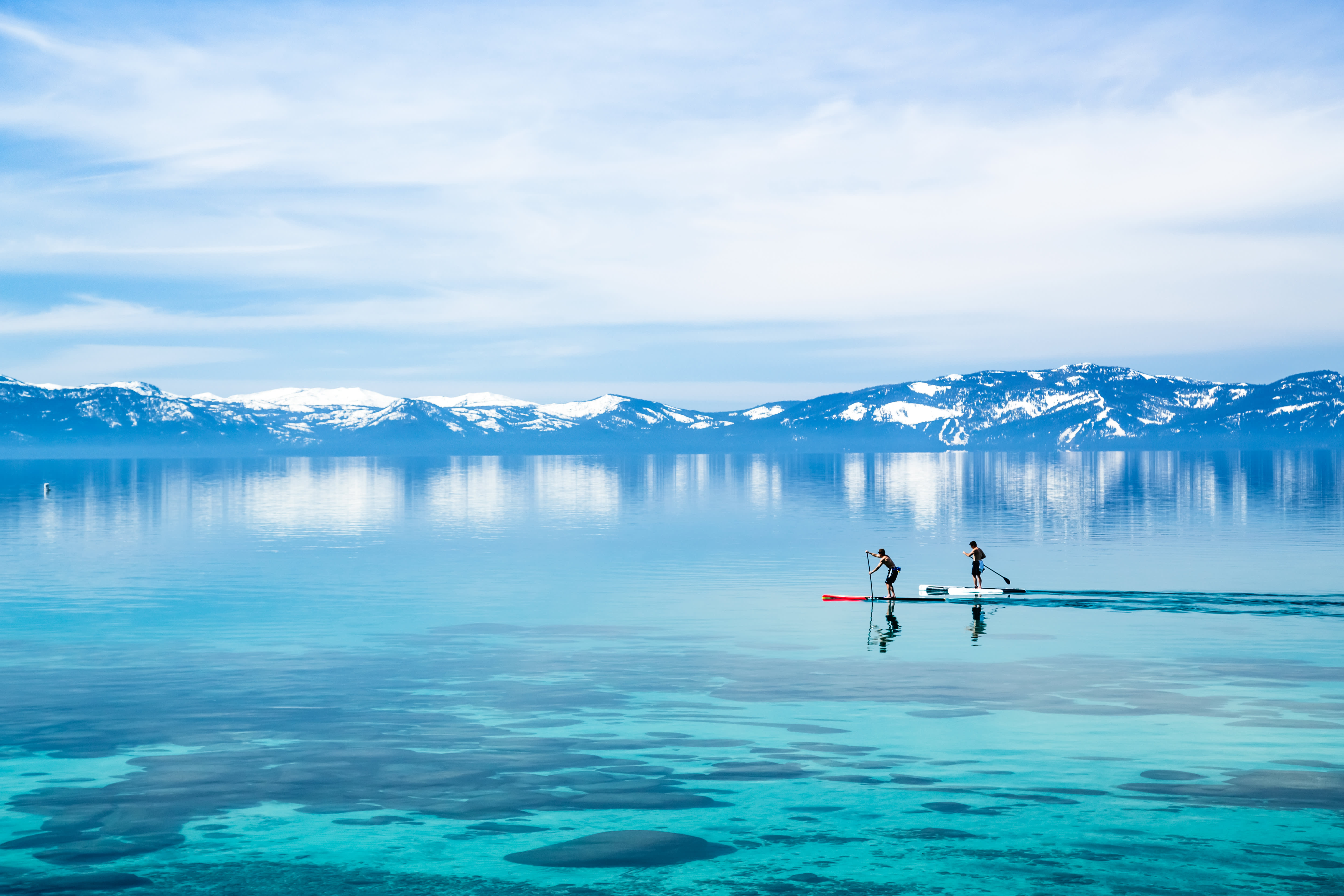Best time to visit USA - Paddle boarding in Lake Tahoe