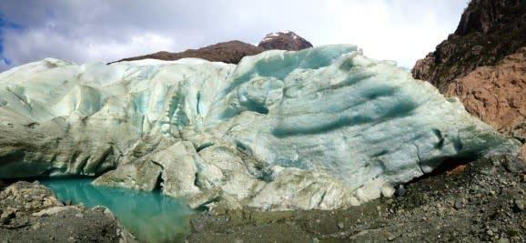 Gletscher in Fjordlandschaften in Chile