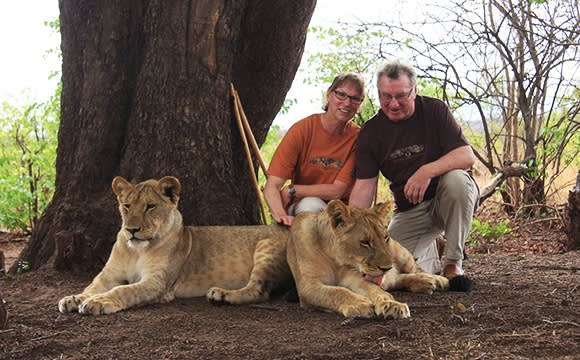 Unsere Gäste im Streichel-Zoo in Botswana