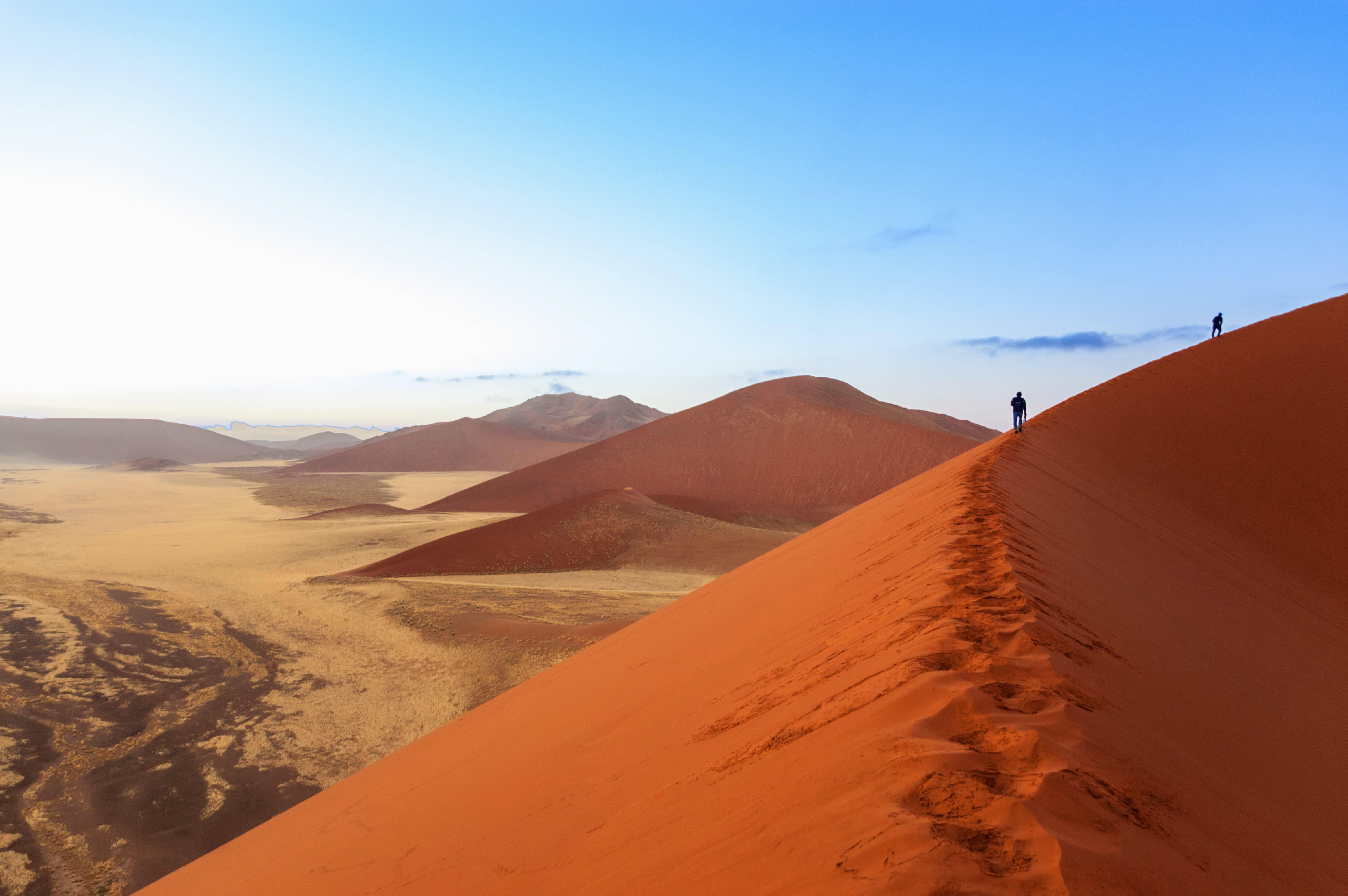 Nähe des Sossusvlei befinden sich spektakuläre Sanddünen