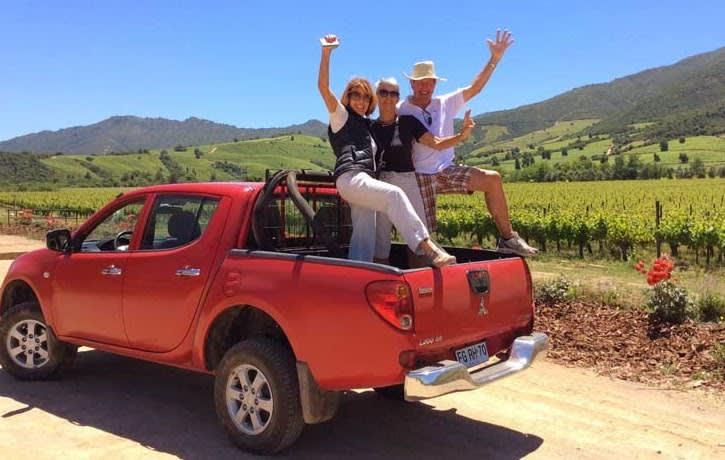 Frau Ammann und Reisebegleitung in Südamerika