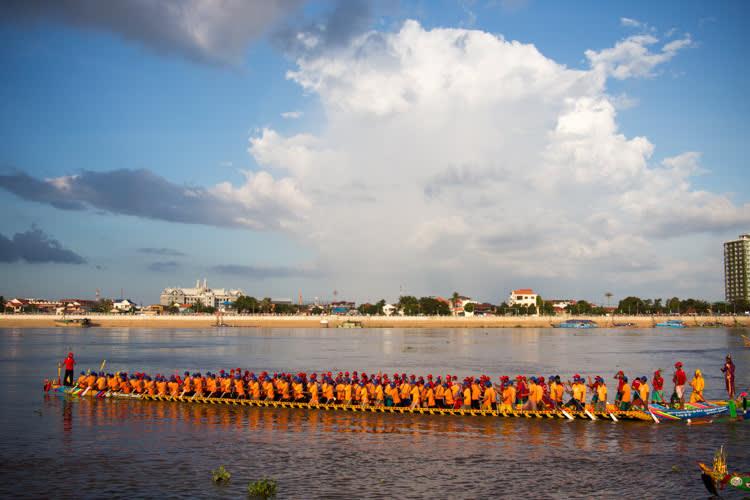 Wasser Festival in Kambodscha