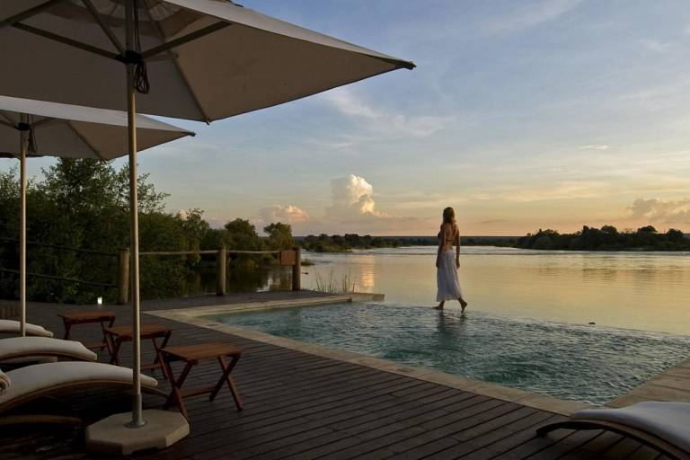 Pool at Victoria Falls Hotel, Victoria Fall, Zimbabwe