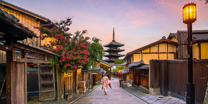 Kyoto in Japan is one of our best honeymoon destinations.