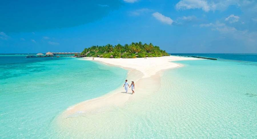 Barefoot luxury in the Maldives.