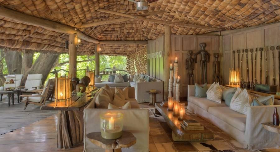 Lobby area at Lake Manyara Tree Lodge in Lake Manyara & Ngorongoro, Tanzania