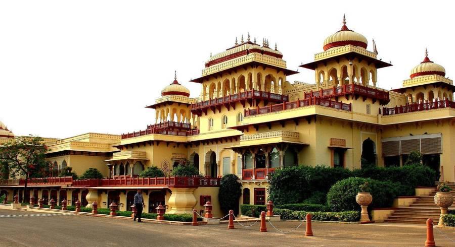 Außenansicht von Heritage Hotel Taj Rambagh Palace, Jaipur, Rajasthan