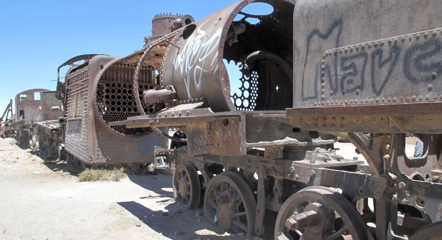 Alte Lokomotiven in Bolivien