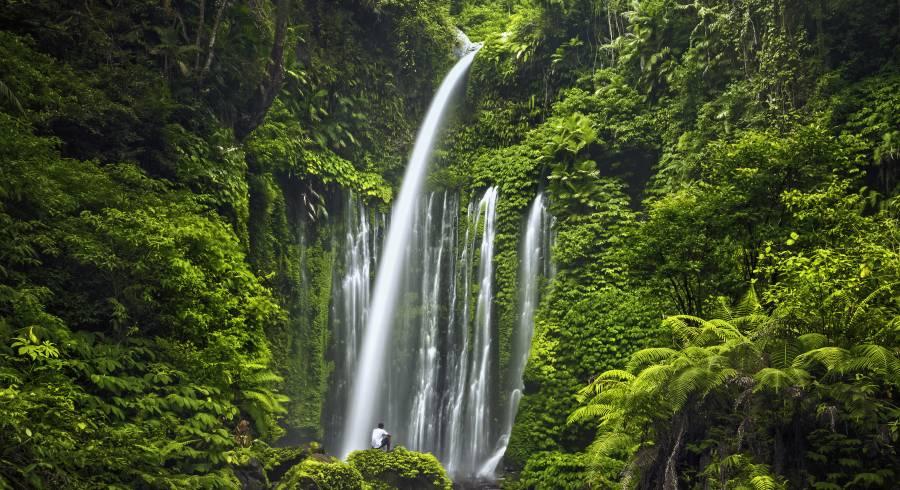 Lombok Sehenswürdigkeiten: Gangga Wasserfälle