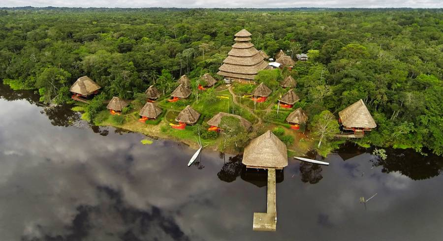 Enchanting Travels - Ecuador Tours - Yasuni - Napo Wildlife Center - aerial view