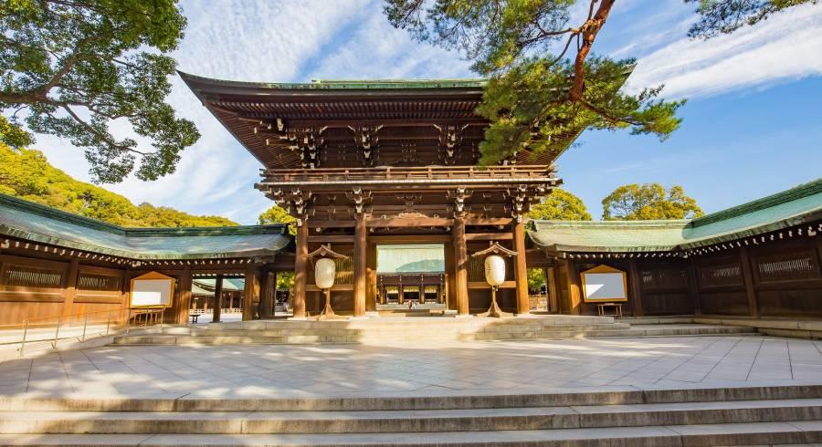 Meiji Schrein eine der beliebtsten Sehenswürdigkeiten in Tokio