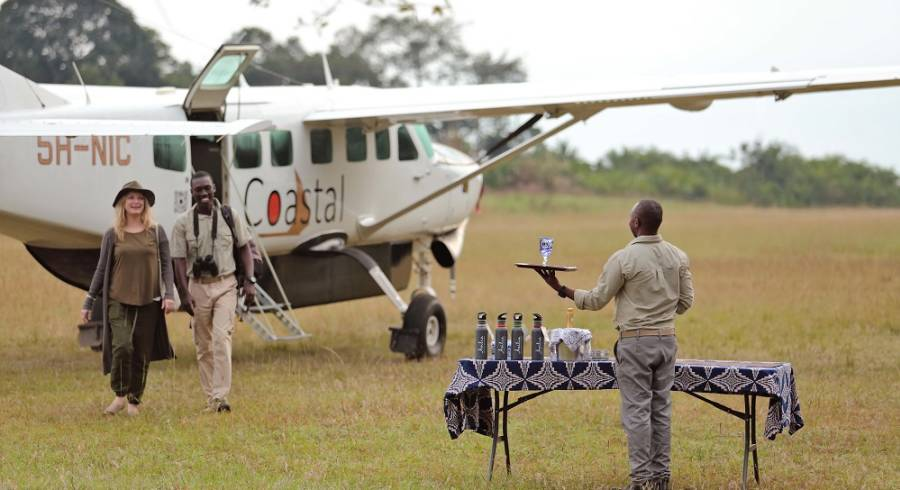 Rubondo-Island-Greetings-on-the-airstrip