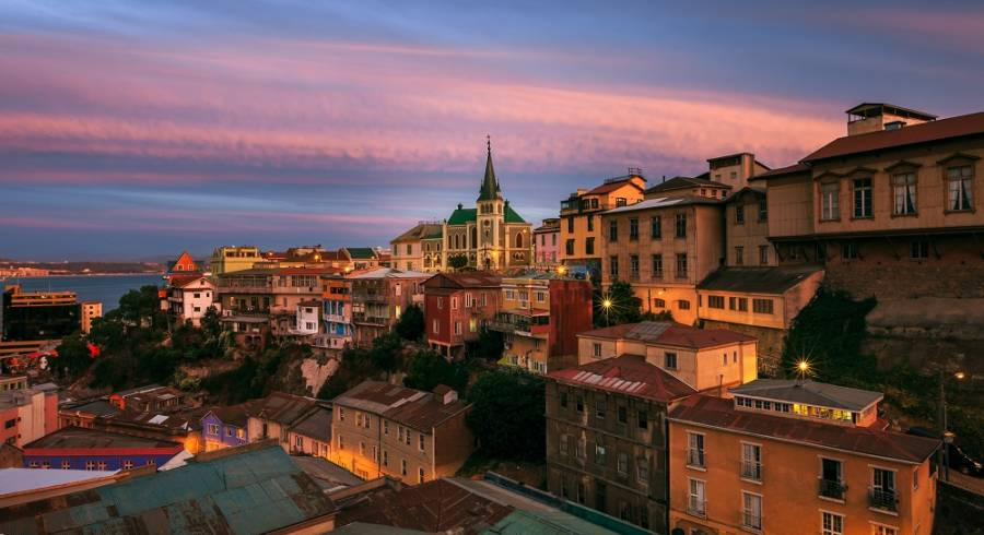 Valparaiso at dusk - best places to visit in 2019