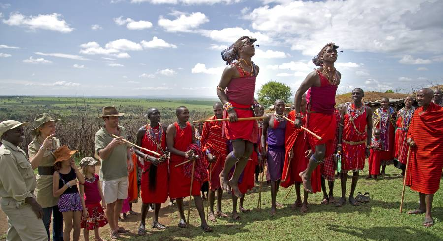 Maasai dance in Masai Mara