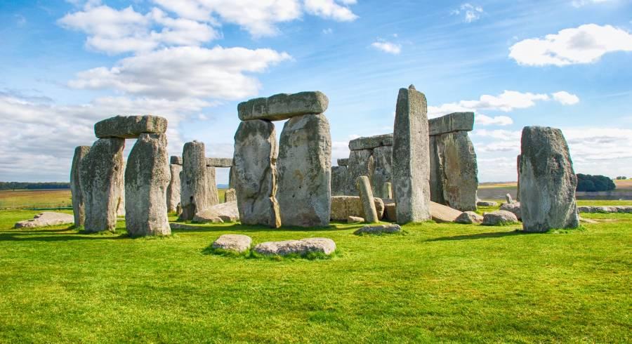 Enchanting Travels UK & Ireland Tours Stonehenge with Blue Sky