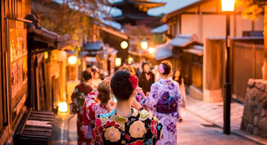 Geishas in Kyoto, Japan