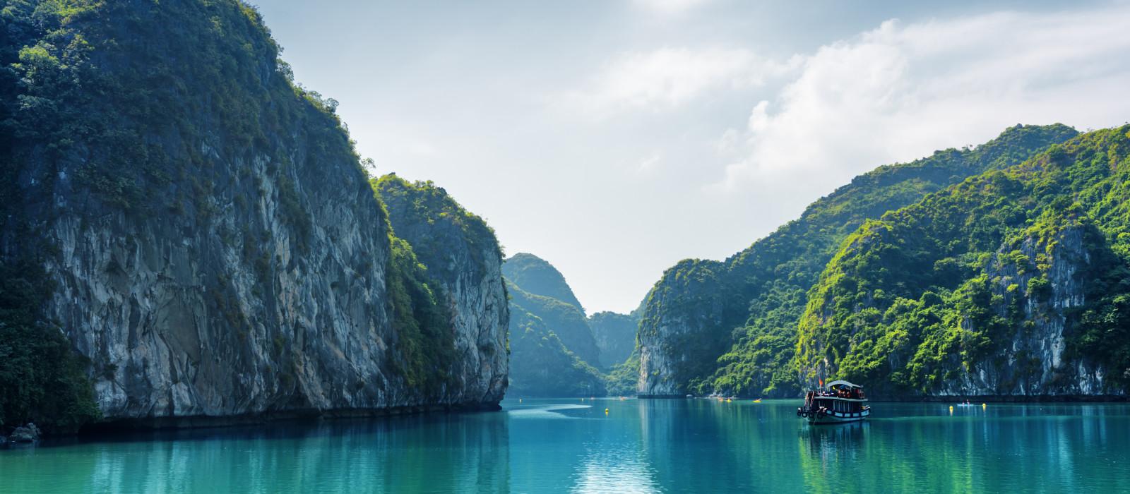 Hotel Luxus-Kreuzfahrt auf der Ylang Cruise Vietnam