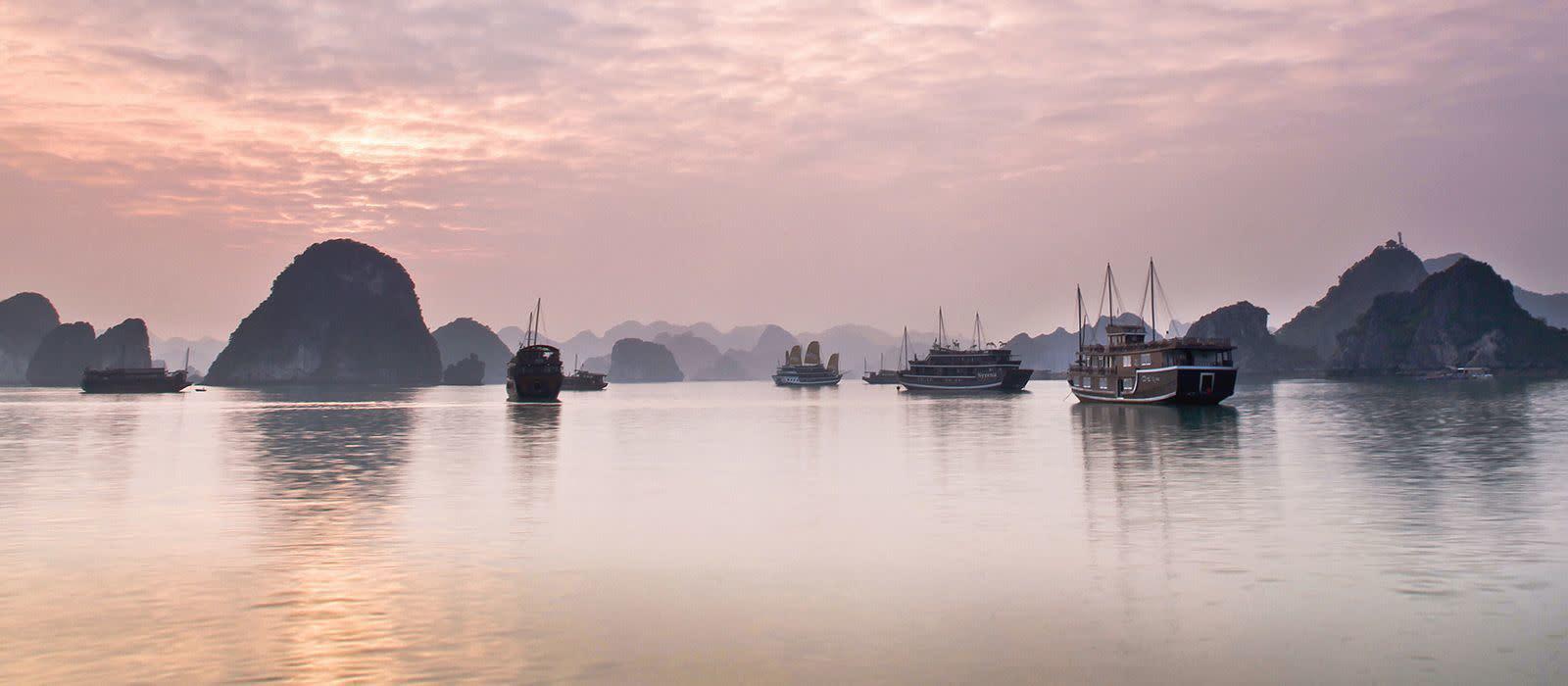 Reiseziel Halong-Bucht und Bucht von Lan Ha Vietnam