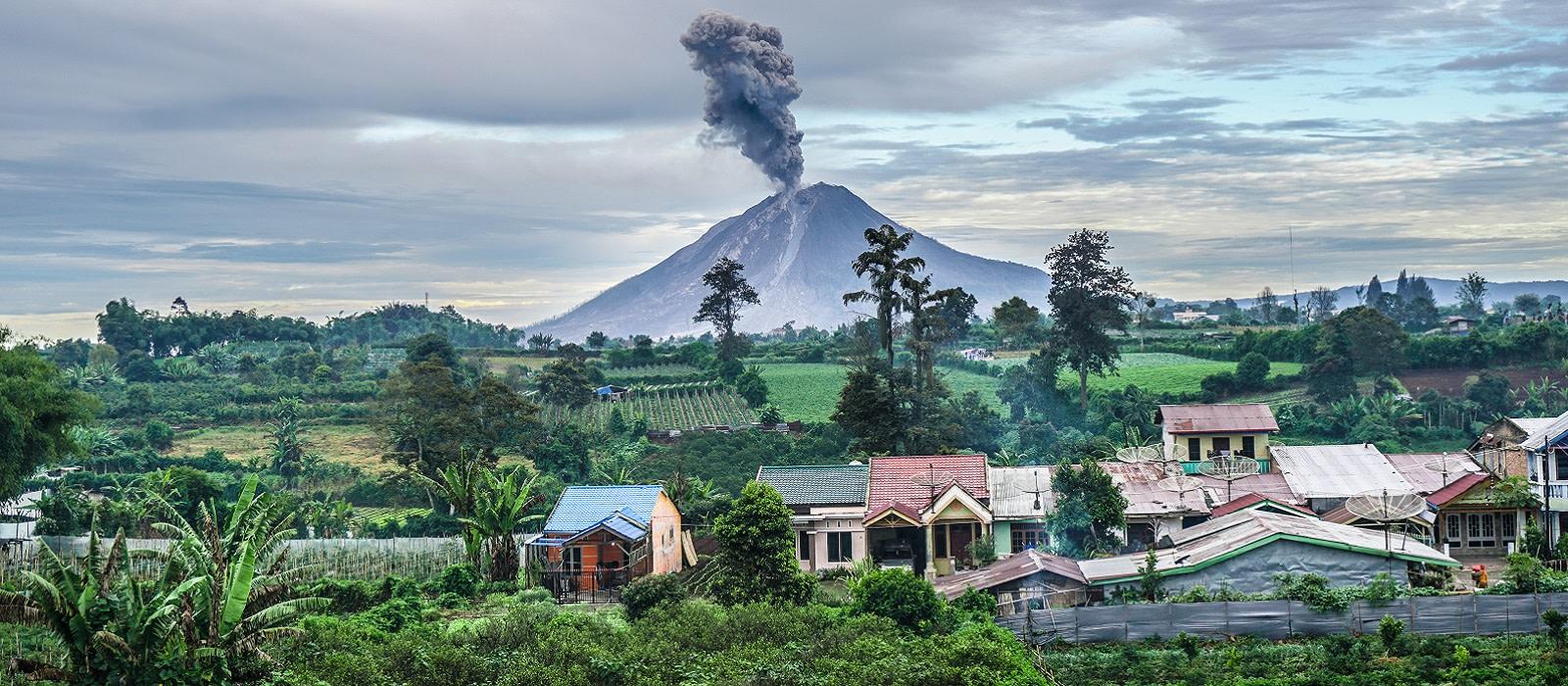 Reiseziel Sumatra, Berastagi Indonesien