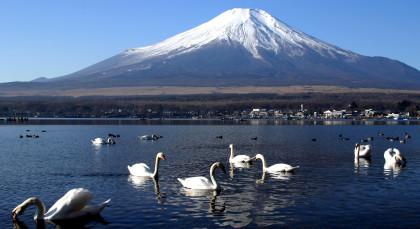 Kawaguchiko-See in Japan