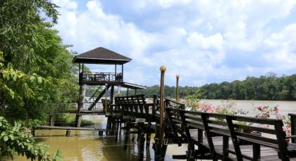 Sukau , Kinabatangan River in Malaysia