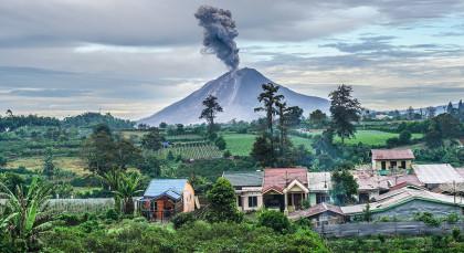 Sumatra, Berastagi in Indonesien