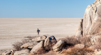 Kalahari Salzpfannen /Makgadikgadi Pans National Park in Botswana