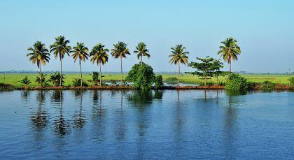 Kerala Backwaters in Südindien