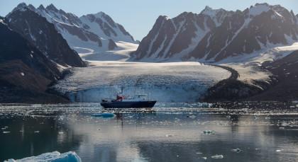 Nördlicher Polarkreis in Arktis