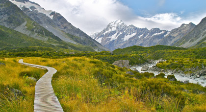 Destination Mount Cook in New Zealand