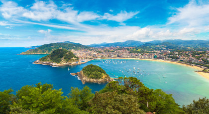 Destination San Sebastian in Spain