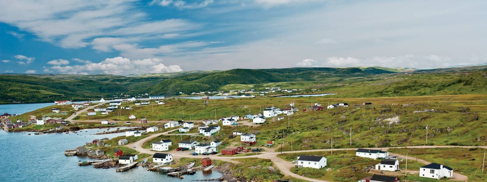 Aerial View of Red Bay Newfoundland
